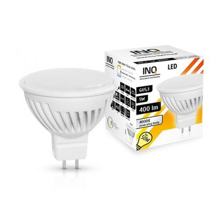 LED / GU5,3 / MR16 / 5W / odp.50W / BIAŁA NEUTRALNA / ŻARÓWKA LED INQ