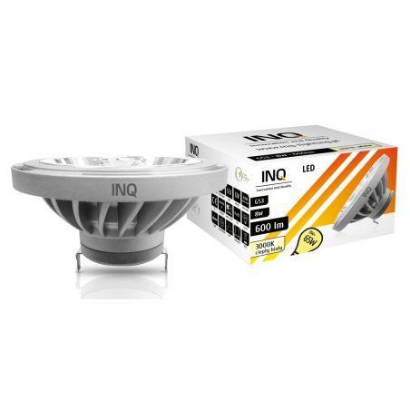 LED / 8W / G53 / AR111 / BIAŁA CIEPŁA 600Lm / ŻARÓWKA LED INQ