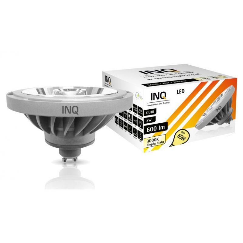 LED / 8W / GU10 / AR111 / BIAŁA NEUTRALNA 600Lm / ŻARÓWKA LED INQ