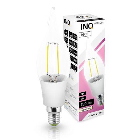 LED / E14 / 2W / odp.16W / BIAŁA CIEPŁA / ŚWIECZKA BX35 / ŻARÓWKA LED INQ
