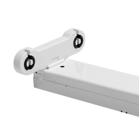 Oprawa ART dla 2szt.TUB LED T8, 120cm,  AC-230V, biała
