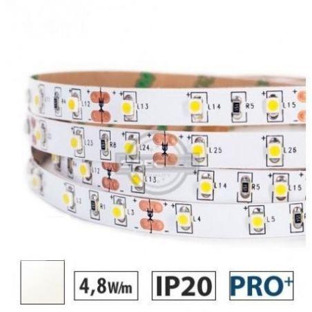 Taśma LED  PRO+ 4,8W/m, 60xLED SMD 3528/m, IP20, biały neutralny, 5m
