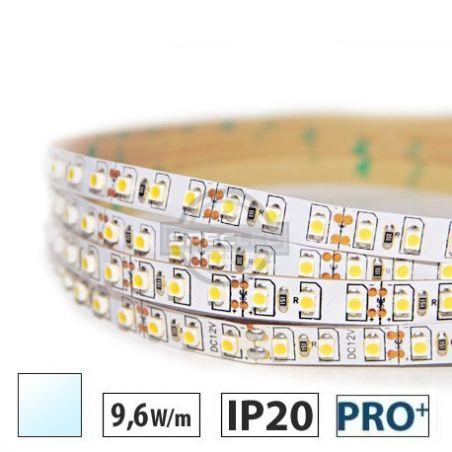 Taśma LED  PRO+ 9,6W/m, 120xLED SMD 3528/m, IP20, biały zimny, 5m