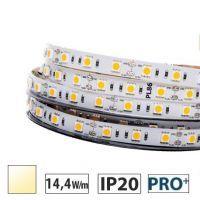 Taśma LED  PRO+ 14,4W/m, 60xLED SMD 5050/m, biały ciepły, IP20, 5m