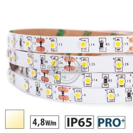 Taśma LED  PRO+ 4,8W/m, 60xLED SMD 3528/m, IP65, biały ciepły, 5m