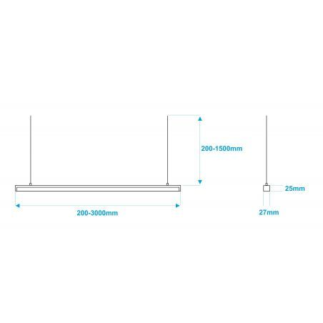 Lampa NULAMP GIP QUADRO W 100, 22W, 2100lm, 3000K, Ra80