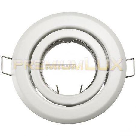 Oprawa PERŁA BIAŁA okrągła regulowana blacha stalowa biała