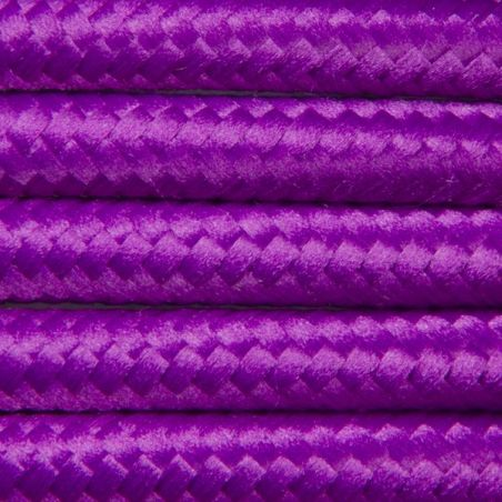 Kabel w oplocie poliestrowym 2 x 0,75 - amarantowy