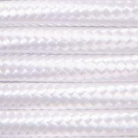 Kabel w oplocie poliestrowym 2 x 0,75 - biały