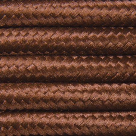 Kabel w oplocie poliestrowym 2 x 0,75 - brązowy