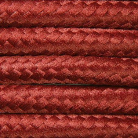 Kabel w oplocie poliestrowym 2 x 0,75 - burgund
