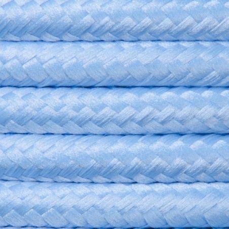 Kabel w oplocie poliestrowym 2 x 0,75 - błękitny