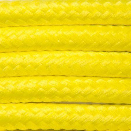 Kabel w oplocie poliestrowym 2 x 0,75 - cytrynowy