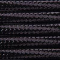 Kabel w oplocie poliestrowym 2 x 0,75 - czarny