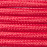 Kabel w oplocie poliestrowym 2 x 0,75 - czerwony