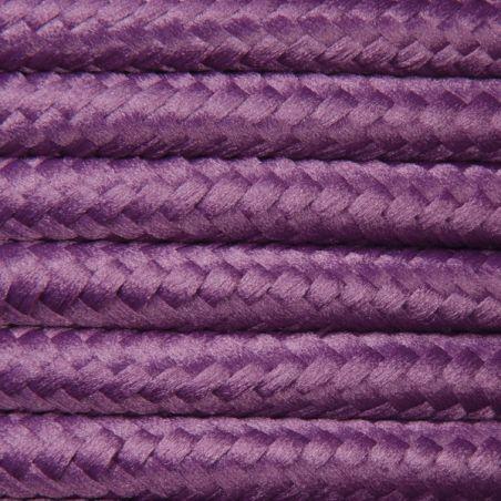 Kabel w oplocie poliestrowym 2 x 0,75 - fioletowy
