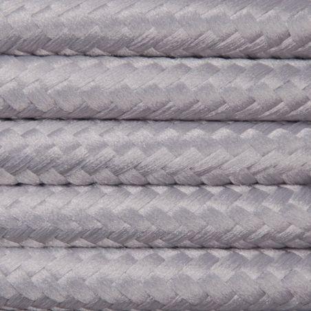 Kabel w oplocie poliestrowym 2 x 0,75 - jasnoszary