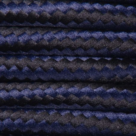 Kabel w oplocie poliestrowym 2 x 0,75 - mix - czarno-granatowy