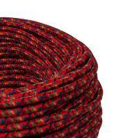 Kabel w oplocie poliestrowym 2 x 0,75 - mix czerwony