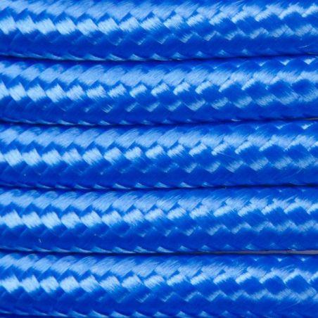Kabel w oplocie poliestrowym 2 x 0,75 - niebieski