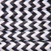 Kabel w oplocie poliestrowym 2 x 0,75 - pepitka czarno-biała