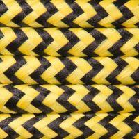 Kabel w oplocie poliestrowym 2 x 0,75 - pepitka żółto-czarna