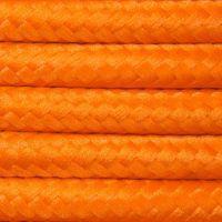 Kabel w oplocie poliestrowym 2 x 0,75 - pomarańczowy