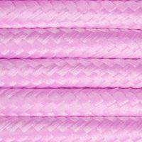 Kabel w oplocie poliestrowym 2 x 0,75 - różowy