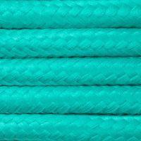 Kabel w oplocie poliestrowym 2 x 0,75 - turkusowy