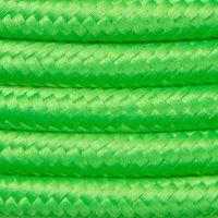 Kabel w oplocie poliestrowym 2 x 0,75 - zielony