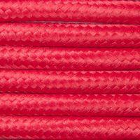 Kabel w oplocie poliestrowym 3 x 0,50 - czerwony