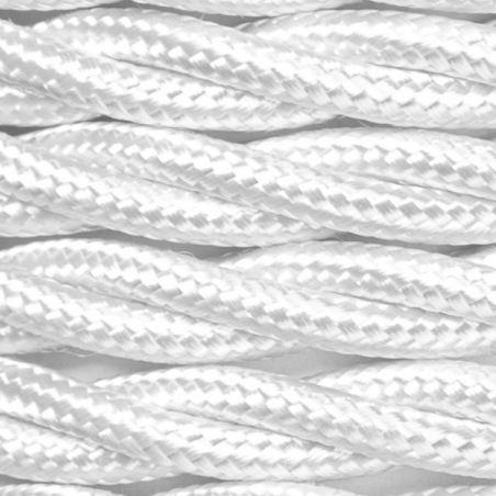 Kabel w oplocie poliestrowym 3 x 0,50 - skręcony - biały
