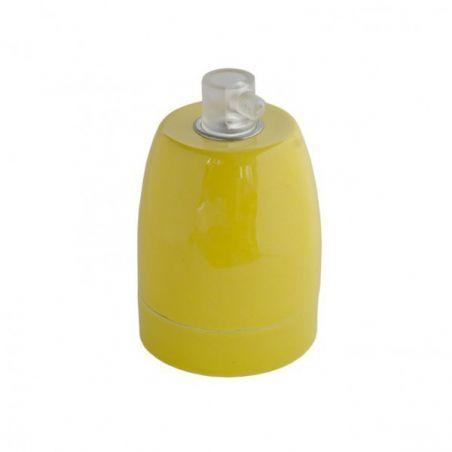 Oprawka ceramiczna błyszcząca E27 - żółta