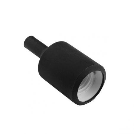 Silikonowa oprawka do żarówek E27 - czarna