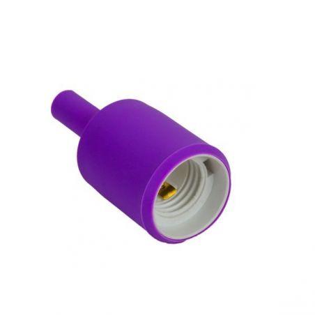 Silikonowa oprawka do żarówek E27 - fioletowa