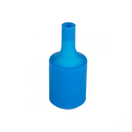 Silikonowa oprawka do żarówek E27 - niebieska