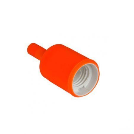 Silikonowa oprawka do żarówek E27 - pomarańczowa
