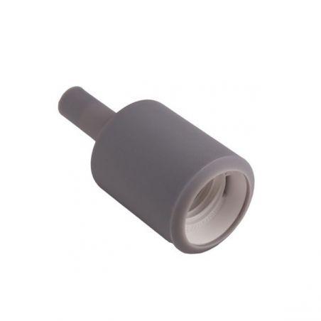 Silikonowa oprawka do żarówek E27 - szara