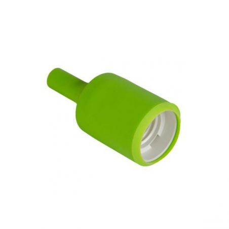 Silikonowa oprawka do żarówek E27 - zielona