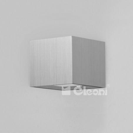 Kinkiet 1pł 10cm Aluminium Anodowane KUBIK bez przesłon T049C1Kh501 Cleoni 1x40W/G9 230V 8,5x10 cm - NEGOCJUJ CENĘ!