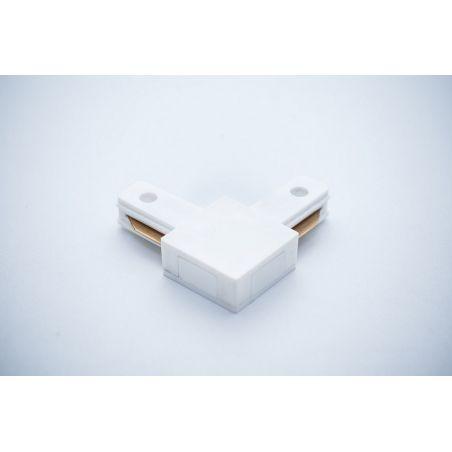 Łącznik do szyn 1-fazowych 90° biały - LED