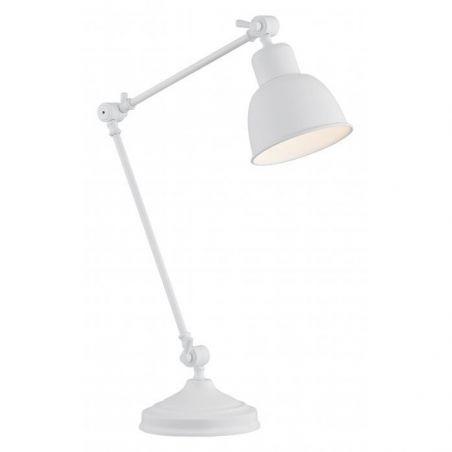Lampka biurkowa Biała 1pł EUFRAT 3194 Argon 1x60W/E27 230V 45x20 cm - NEGOCJUJ CENĘ!