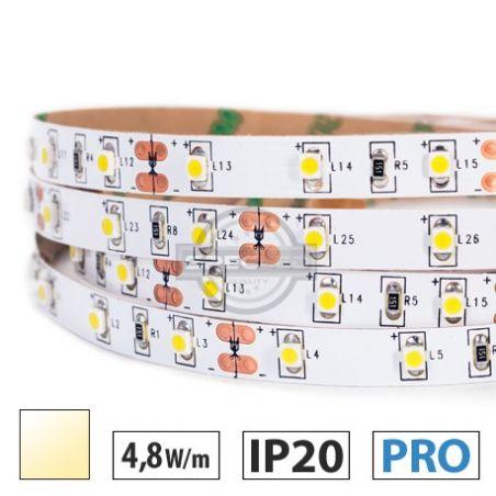 Taśma LED  PRO 4,8W/m, 60xLED SMD 3528/m, IP20, biały ciepły, 5m