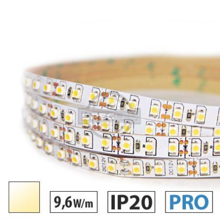 Taśma LED  PRO 9,6W/m, 120xLED SMD 3528/m, IP20, biały ciepły, 5m