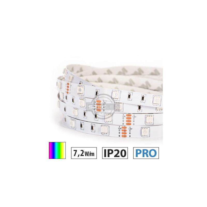 Taśma LED  PRO 7,2W/m, 30xLED SMD 5050/m, IP20, RGB, 5m