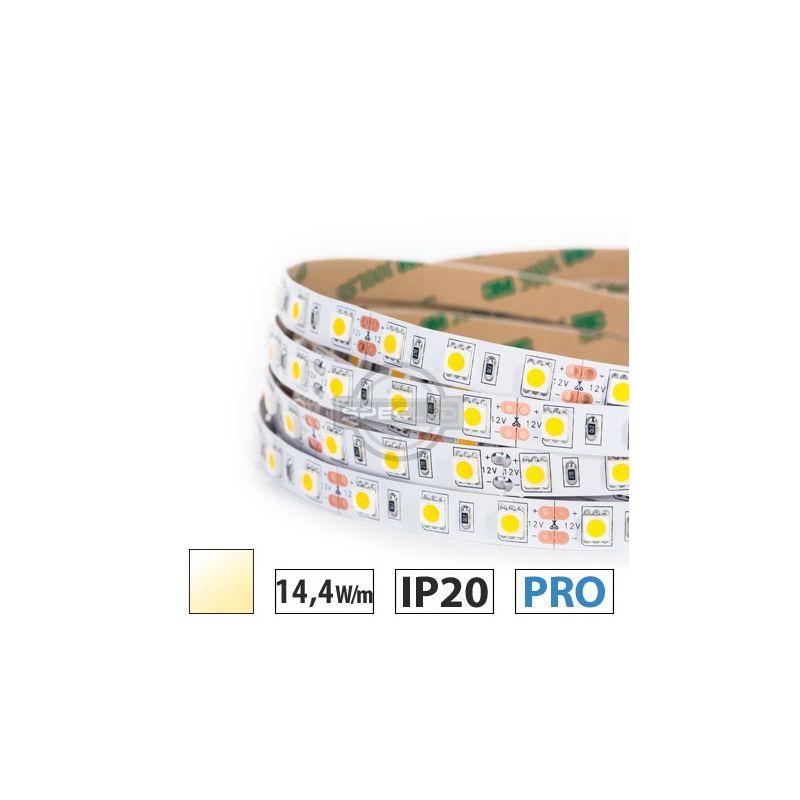 Taśma LED  PRO 14,4W/m, 60xLED SMD 5050/m, biały ciepły, IP20, 5m