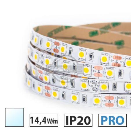 Taśma LED  PRO 14,4W/m, 60xLED SMD 5050/m, biały zimny, IP20, 5m