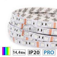 Taśma LED  PRO 14,4W/m, 60xLED SMD 5050/m, RGB, IP20, 5m