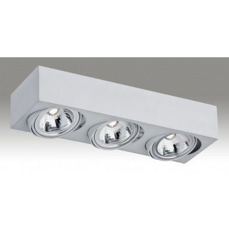 Plafon sufitowy LED 3pł RODOS 1183 Argon 3x7W/LED 230V 8,5x45 cm - NEGOCJUJ CENĘ!
