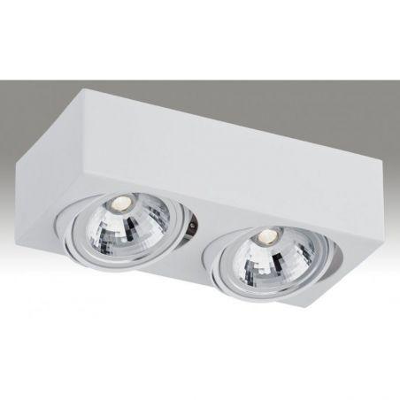 Plafon sufitowy LED 2pł RODOS 649 Argon 2xLED/7W 230V 8,5x30 cm - NEGOCJUJ CENĘ!